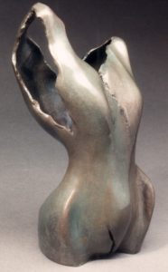 Torn Apart, bronze sculpture by Lori Kay