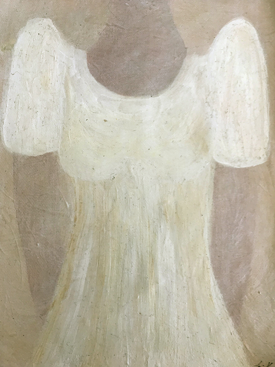 my old terno dress, painting by Lori Kay