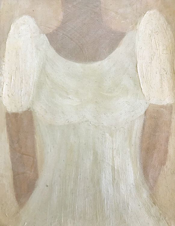 My Sisters Old Terno Dress, painting by Lori Kay