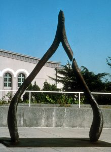 Broken Wishbone, bronze sculpture by Lori Kay